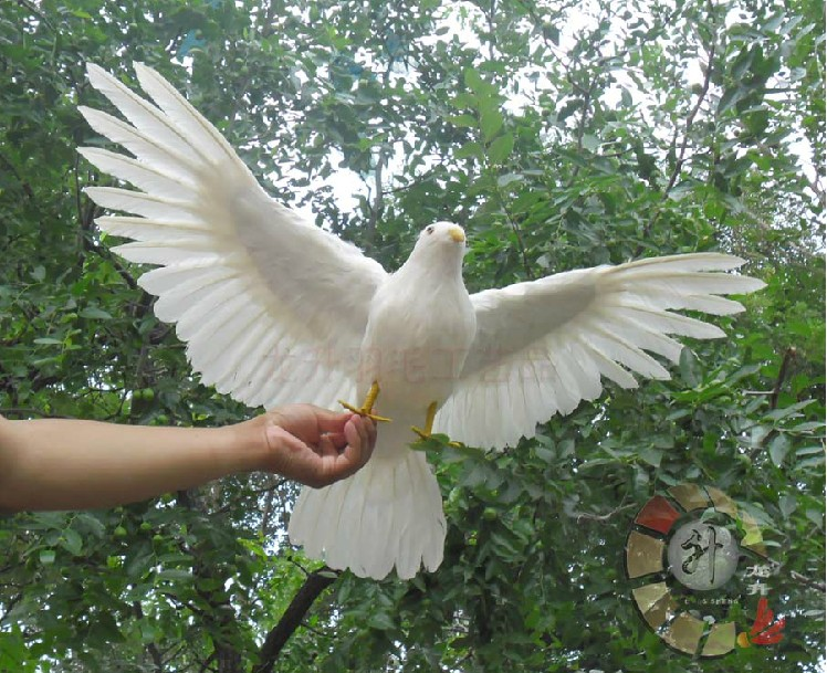 simulation dove feathers bird 42x80cm spreading wings peace bird model craft photography teaching props decoration a1915