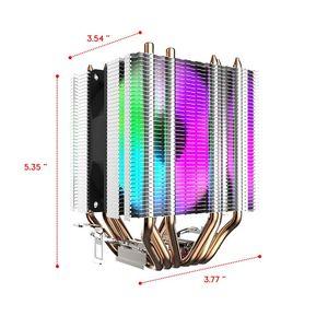 Image 5 - darkFlash CPU Cooler 6 HeatPipes Dual tower Heatsink 3pin 90mm Fan RGB Thermal Grease CPU Air Cooler For LGA775 115x/1366/2011