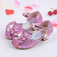 Summer 2017 Children Princess Sandals Kids Girls Wedding Beach Shoes High Heels Dress Shoes Party Shoes