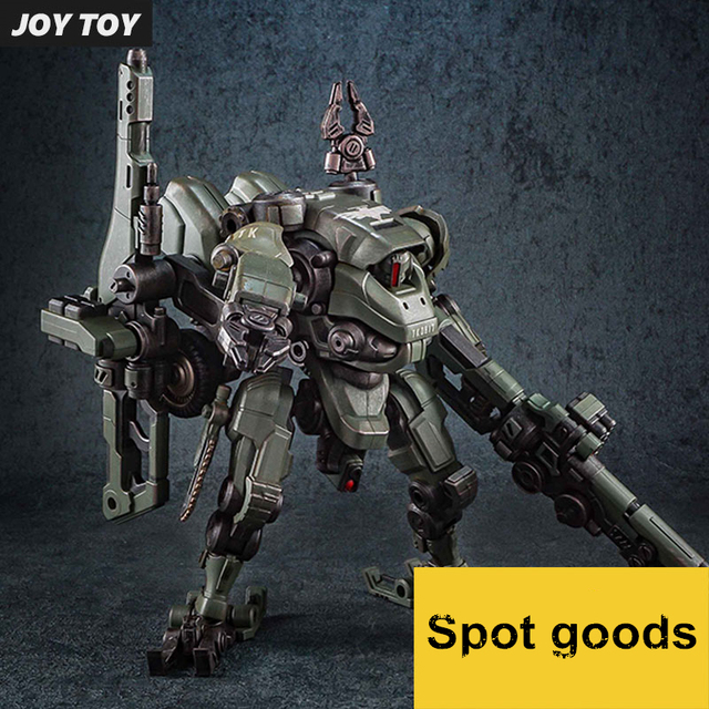 JOY TOY 1:27 Figures robot the 3rd mecha mecha Quebec iron model motorcycle double turret movable deformable Set RE015
