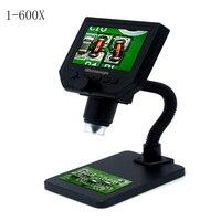 미니 600x usb 디지털 전자 현미경 휴대용 8 led vga 현미경 4.3