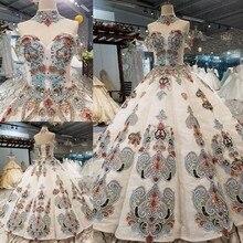 2018 Yeni Desen Gelin Bir Kelime Omuz Kore Kendini yetiştirme İnce Muhtasar Uzun Kuyruk Renk düğün elbisesi Tam Elbise 2411