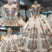2018 neue Muster Braut Eine Wort Schulter Koreanische selbst anbau Dünne Concise Lange Tailing Farbe Hochzeit Kleid Volle Kleid 2411