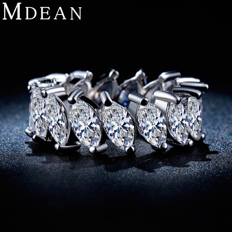 White gold plated rings for women aaa zircon engagement Vintage style fashion rings