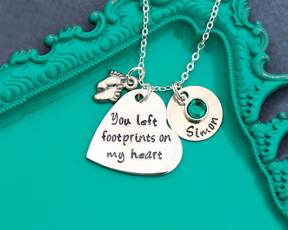 Remembrance Necklace Memorial Child Loss Necklace Quote Condolence