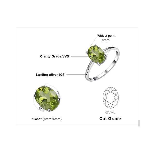 Natural Peridot Solitaire Ring