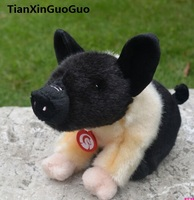 about 18cm mini pig plush toy coloured black&brown pet pig soft doll baby toy birthday gift w0920