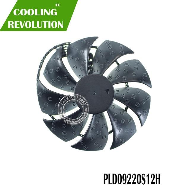 PLD09220S12H DC12V 0.55A 4PIN ventilateur de carte Graphique pour EVGA RTX 2080 2080ti FTW3