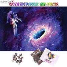 MOMEMO Astronaut Wooden Puzzle 1000 Pieces Jigsaw 50*75cm Plane Games Adults Landscape Puzzles Toys