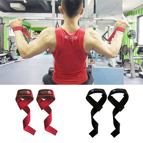 2pcs Weightlifting Hand Pad Wrist Wraps Straps Gloves Men Gym Support Lifting Grip Belt Training Fitness Weight Bodybuilding Lahore