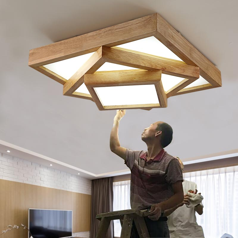 Woonkamer Plafondlamp. Chinese Doek Ronde Landelijk Woonkamer ...