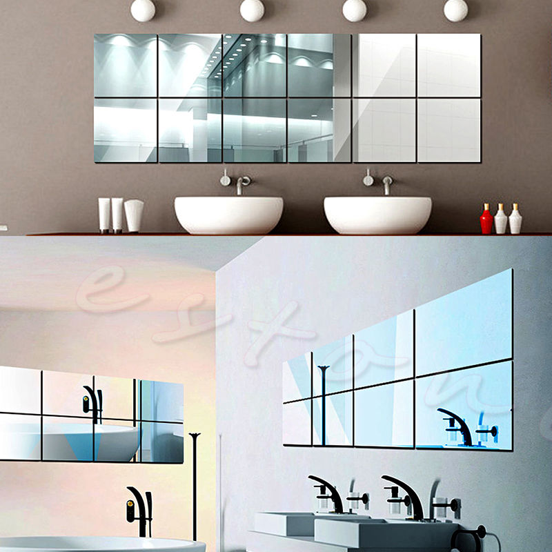 Bathroom Mirror Adhesive adhesive wall mirror tiles | roselawnlutheran