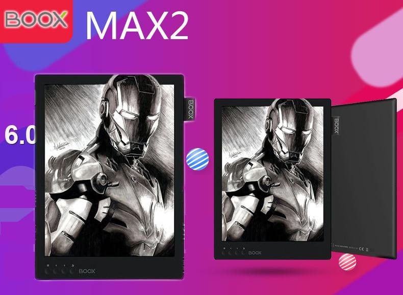 BOOX MAX2 ebook reader 13.3 Flexible HD carta screen 32GB 2200*1650 4100mAh wifi bluetooth Android 6.0 ereader 2018 version