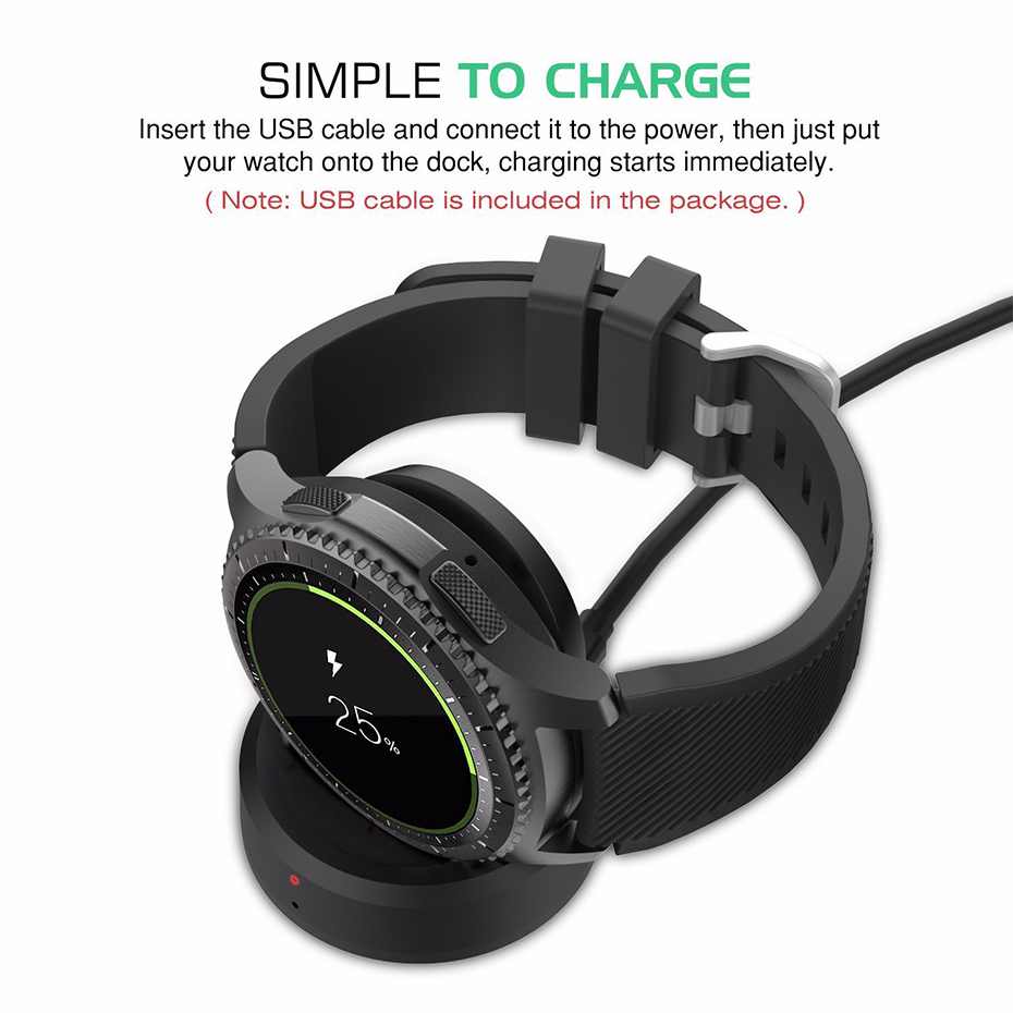 Wireless Charger For Samsung Galaxy Gear Gear S3classic Dock High Quality Charger For Samsung Gear S3 Smart Watch Charger