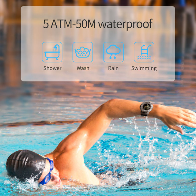 Waterproof Sports & Fitness Tracker Smart Watch For IOS and Android Phone