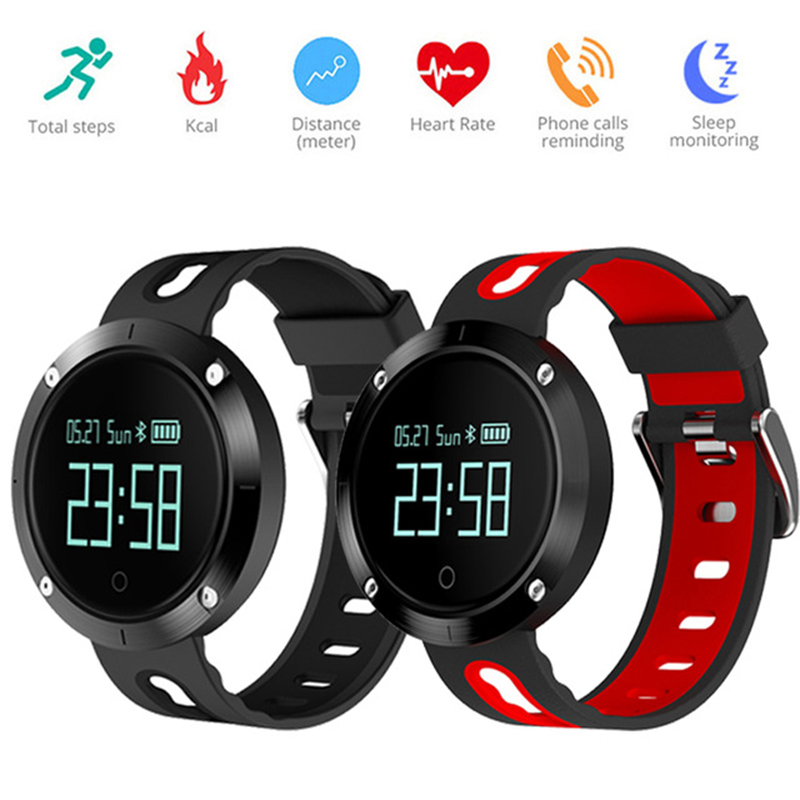 Uwatch Bluetooth Sports Wristband Heart Rate Smart Watch Blood Pressure Monitor IP68 Waterproof Heart Rate For