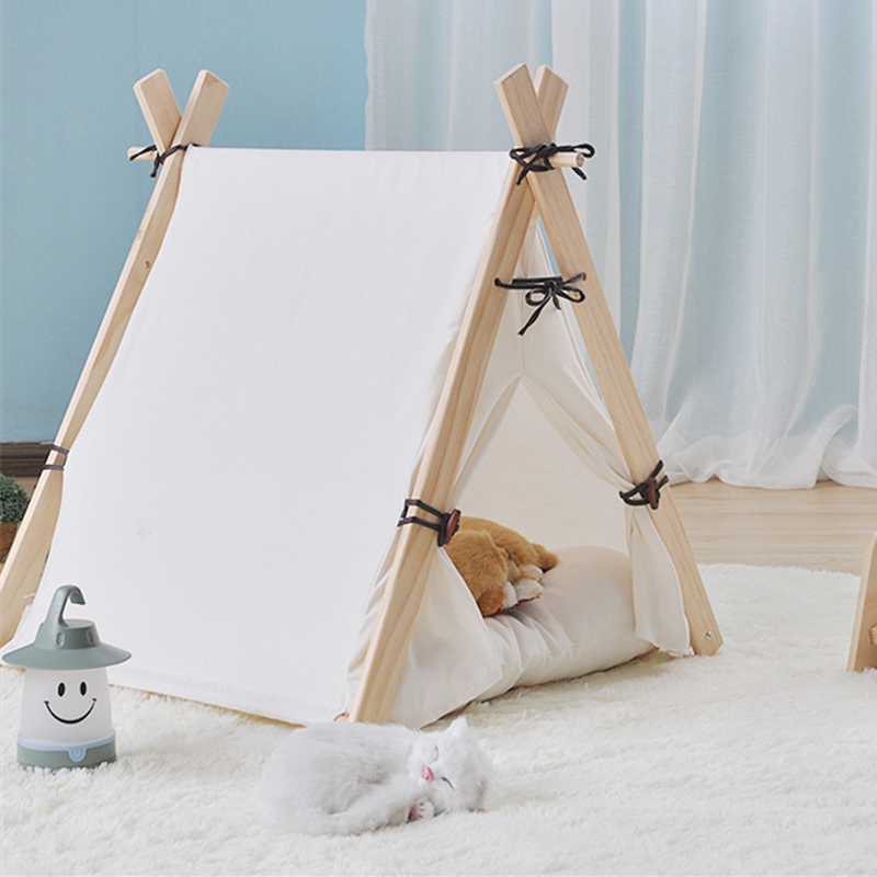 Wooden Life Foldable Pet Bed Pet Tent Dog Bed Cat