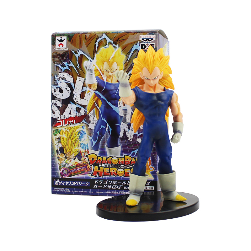 Buy 17cm Dragon Ball Z Heroes Vol.2 Super Saiyan 3 Son Goku VEGETA PVC Action Figure Collectible Model Toy for only 11.25 USD