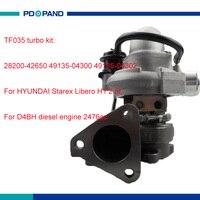 Car turbo charger part TF035 supercharger compressor 49135 04300 49135 04302 T915020 for HYUNDAI Starex Libero H1 2476cc