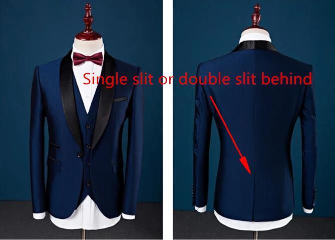 Erkek Kıyafeti'ten T. Elbise'de Özel Slim Fit Tepe Yaka En Iyi Erkek Takım Elbise Mavi Sağdıç erkek Düğün Balo Erkek Takım Elbise Smokin Balo Kostüm Homme ceket + Pantolon + Yelek'da  Grup 2