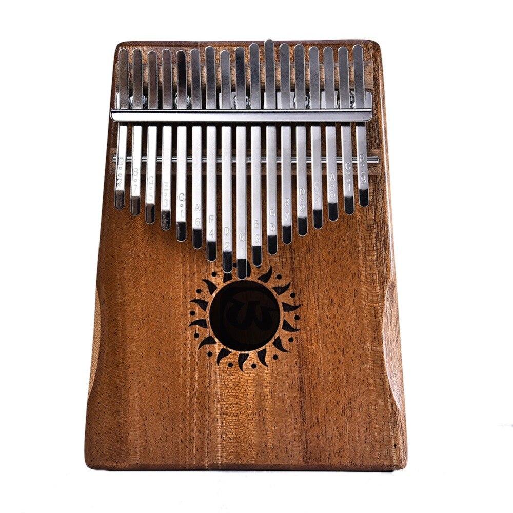 17 ключ калимба красное дерево «пианино для больших пальцев» Mbira натуральный мини клавиатурный инструмент (сумка + тюнер молоток + наклейки + ...