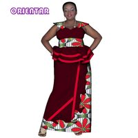 2018 African Skirt Sets for Women Dashiki Bazin Riche 2 Pieces Sets African Traditional Clothing Plus Size Women Dresses WY2887