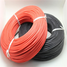 And Wire-Cable Silicone-Rubber 14-Gauge Flexible AWG 100-Meters/Roll Super-Soft Black/red