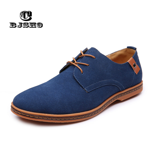 faf27c566d CBJSHO Big Size 39-48 Faux Suede Shoes Male Breathable Business Casual Shoes  Men Flats Spring Autumn Lace-up Men s Boat Shoes