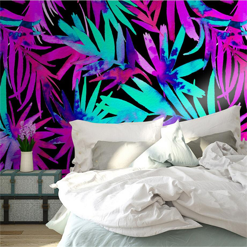 3D Photo Custom Wallpaper Nordic Color Tropical Plant Leaf Wall Mural Modern Wall Papers Wallpaper Home Decor Wall Paper 3d photo custom wallpapers stereoscopic green rattan white tv wallpaper leaf wall mural wallpaper home decor wall paper