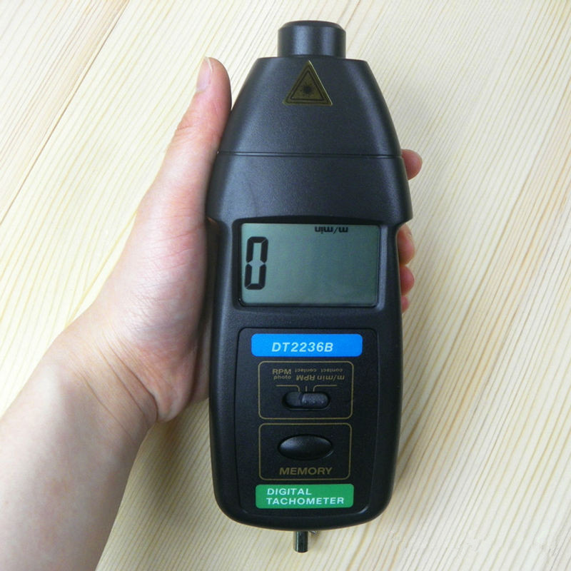 DT-2236B Fotoelettrico tachimetro e contatto tachimetro due funzione meter RPM speed meter tacometro laser contagiri digitale