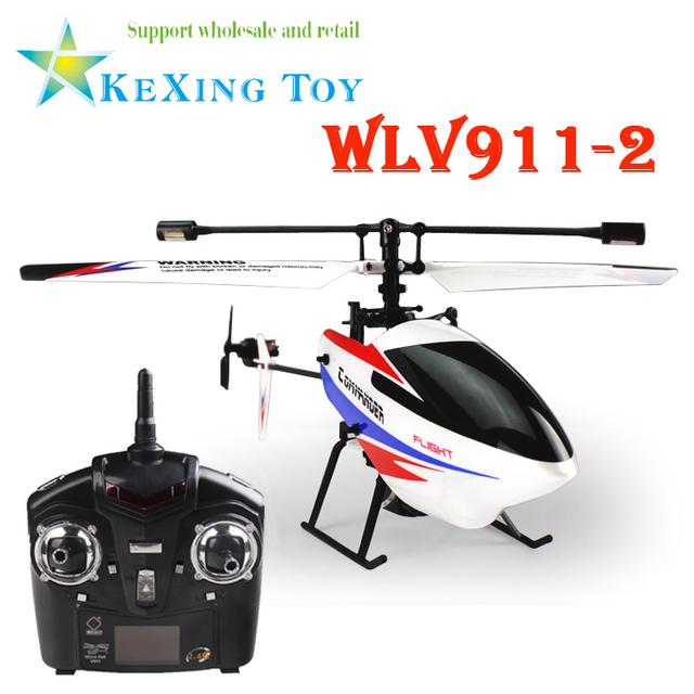 WLV911-2 4CH 2.4 GHz Giroscopio Individual Cuchillas RC Helicóptero Teledirigido de Radio, V911 V911-1 Versión Mejorada