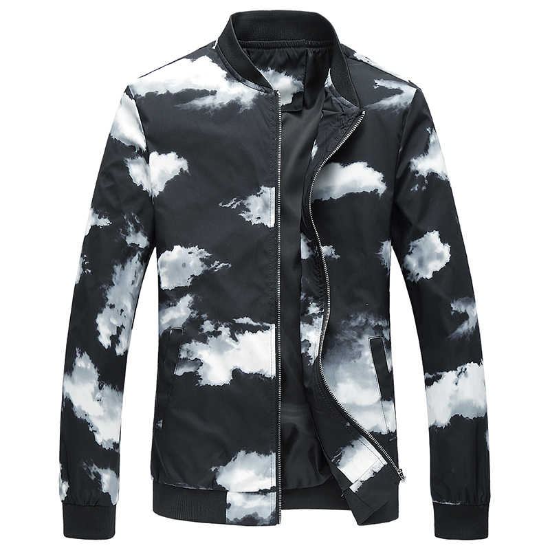 2019 новая весенняя куртка с цветочным рисунком для мужчин, приталенная Мужская куртка s, Цветочный чехол с принтами, куртка с воротником, повседневная куртка-бомбер для мужчин, большие размеры 6XL