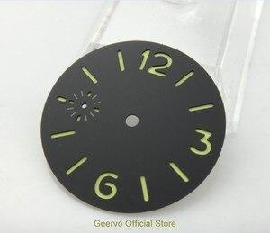 Image 2 - 36,3mm GEERVO moda steril ışıklı Sayı siyah dial fit 6497 hareketi erkek saati arama 06