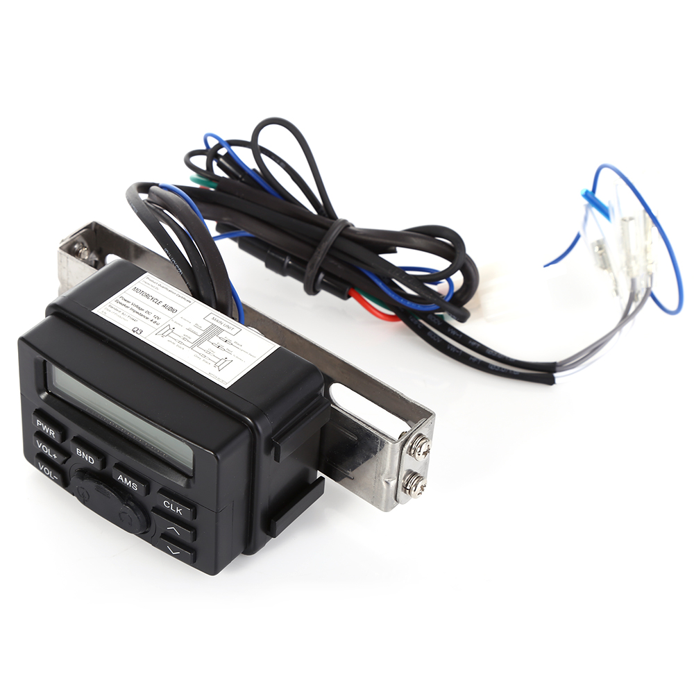 Mt723 Motorcycle Audio System Mp3 Player Speaker Fm Stereo Sound Wiring Motorbike Equipment Support Aux Water Resistant Lcd Display In From