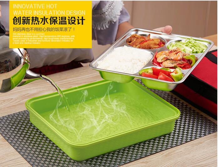 Prenosna škatla za hrano iz kovine iz nerjavečega jekla, ljubka - Kuhinja, jedilnica in bar - Fotografija 2