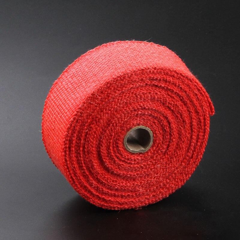 Титановый выпускной коллектор лента термическая удерживающая Автомобильная термолента - Цвет: red
