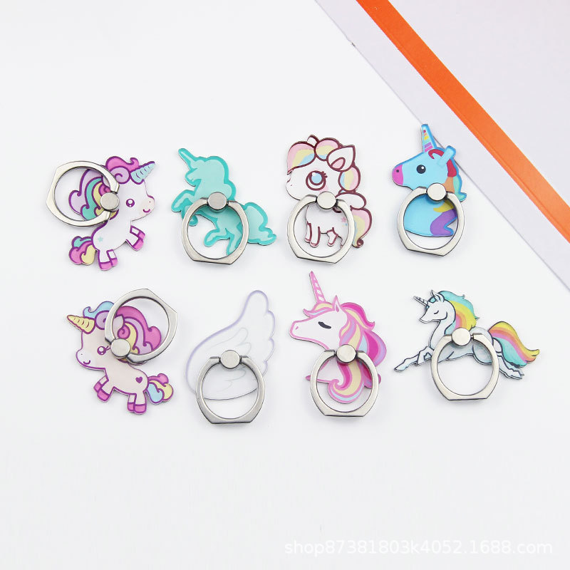 Mobile Phone Accessories Careful 360 Degree Unicorn Rainbow Horse Finger Ring Smartphone Stand Holder Mobile Phone Holder 2019 Cellphones & Telecommunications