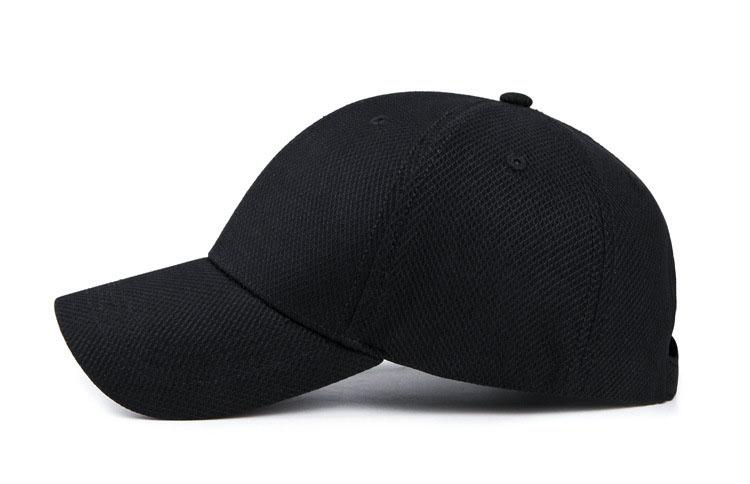 Solid Cord Colors Adjustable Baseball Cap - Black Cap Side View