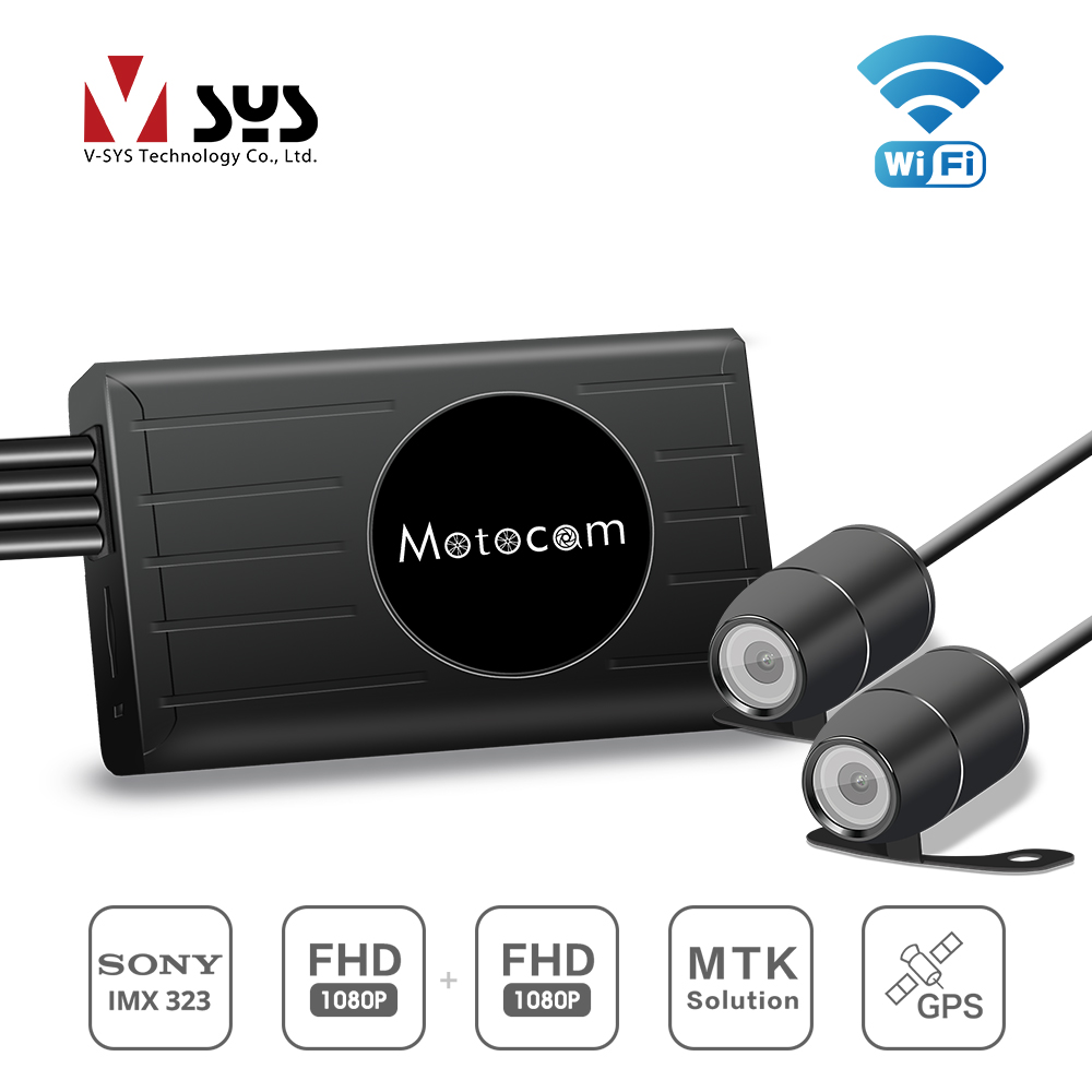 X2 Upgraded version M2F WIFI motorcycle DVR dual FHD action dashcam of V SYS newest modle with 3.0 inches LCD monitor
