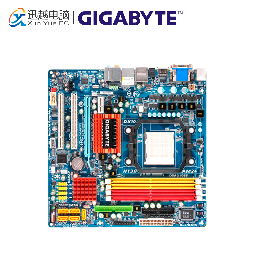 Gigabyte GA-MA78GM-S2HP Desktop Motherboard MA78GM-S2HP 780G Socket AM2 DDR2 SATA2 USB2.0 Micro ATX for gigabyte ga ma78g ds3hp original used desktop motherboard for amd 780g socket am2 for ddr2 sata2 usb2 0 atx
