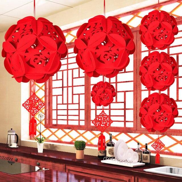 Trung quốc Fu chữ Đèn Lồng Trung Quốc Năm Mới Trang Trí Giáng Sinh Trang Trí Cho ngôi nhà Năm Mới 2019 Trang Trí Nội Thất May Mắn Đèn Lồng