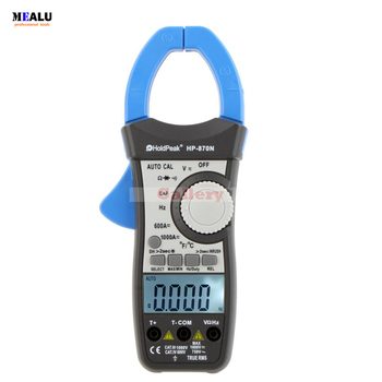 HP-870N Auto Range Multimetro Digital Clamp Meter Multimeter Pinza Amperimetrica Amperimetro True RMS Frequency Tester