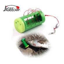 JIGEECARP-ensemble de crochets d'explosion avec Cage distributeur d'appâts, 6 crochets de pêche à la carpe, plate-forme à poisson-chat, matériel de pêche grossier, 1 ensemble