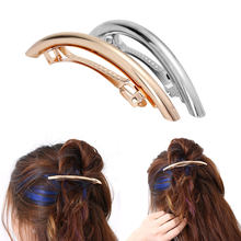 Women Girls H air Gold/Silver Plated Metal H air Cs Metal Circle H airpins Holder massage(China)