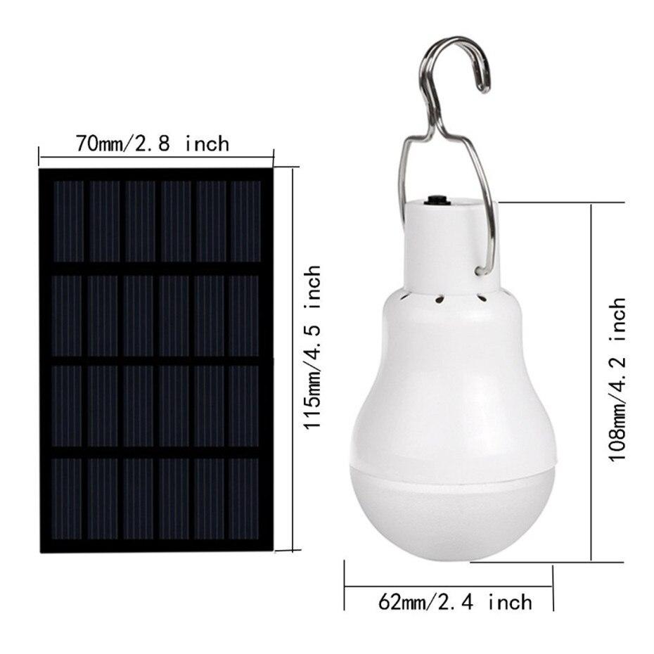 Lâmpadas Solares holofotes solar do jardim luz Wattage : 1.5 Watt, equivalent to 15w Incandescent Lamp