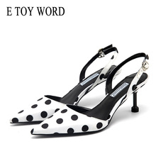 E TOY WORD 2019 New Summer sandals female Korean high-heeled women shoes Stiletto Wave point Fashion Pointed Woman High heels