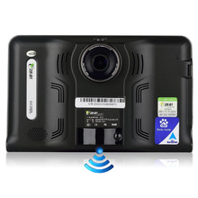 7 pulgadas GPS WiFi Android Tablet 16 GB GPS DVR Videocámara Anti Radar Detector Táctil Capacitiva Allwinner A33 Quad Core Pad