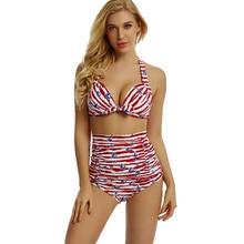 2019 Bath Suit Two Pieces High Waist Sexy Bikini Set Print Push Up Swimsuit Female Beachwear Swimwear Summer Biquini Beach Wear