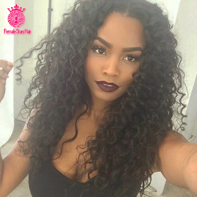 7A Grade Glueless Full Lace Human Hair Wigs Kinky Curly 130% Density Lace Front Wigs For Black Women Human Hair U Part Wig