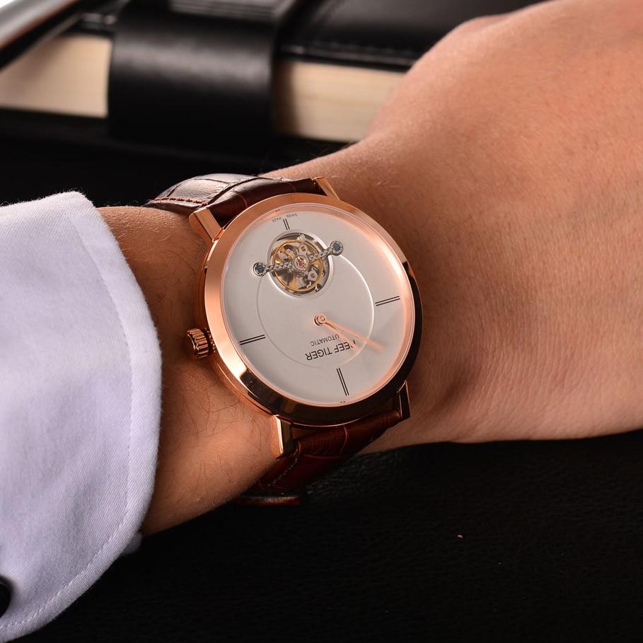 Tiger Reef luxury brand leather watch Tourbillon mechanical automatic watches for men Sapphire glass mirror relogio masculino  обогреватель sinbo sfh 3367 белый sfh 3367